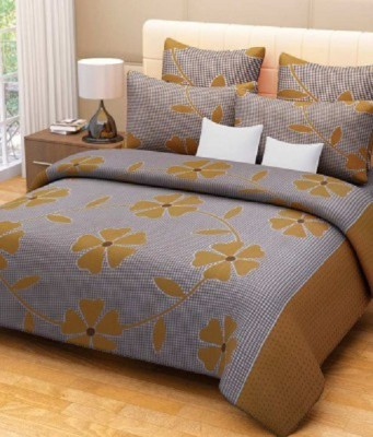 Ruhi Home Furnishing Polycotton Floral Double Bedsheet