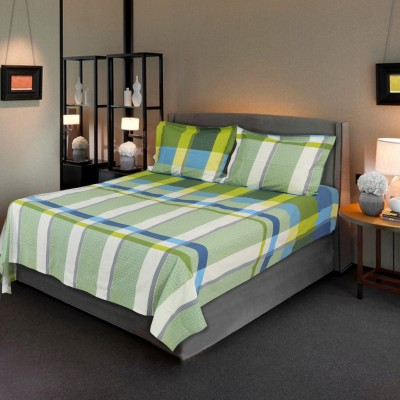 Hemlines Cotton Checkered Double Bedsheet