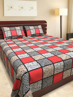 madhav blankets Cotton Printed King sized Double Bedsheet