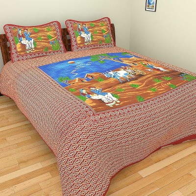 Bhavy Cotton Printed Double Bedsheet