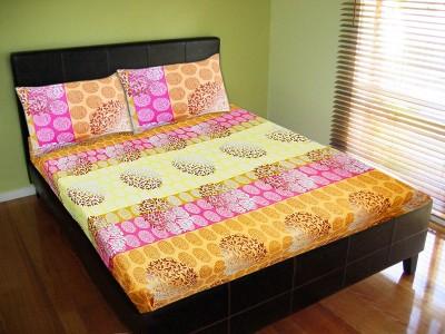 Vibrant Homze Polycotton Motifs Double Bedsheet