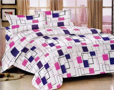 Bedline Home Cotton Abstract Double Bedsheet