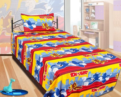RJ Products Polycotton Printed Single Bedsheet
