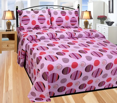Balaji Texo Fab Cotton Geometric Double Bedsheet
