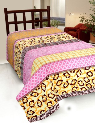 Home Castle Cotton Abstract Single Bedsheet