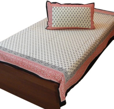 Little India Cotton Floral Single Bedsheet