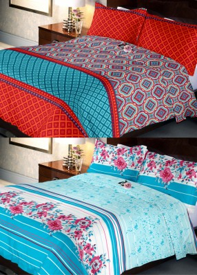 Indien Casa Polycotton Abstract Queen sized Double Bedsheet