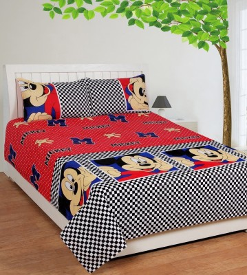 Sparklings Cotton Abstract Double Bedsheet