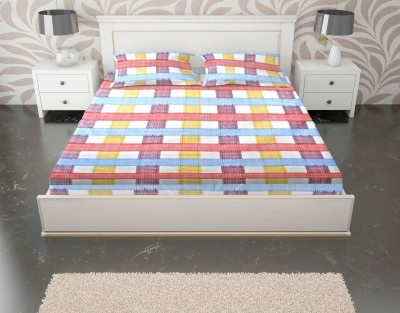 Enaakshi Cotton Checkered Double Bedsheet