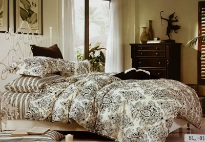 Fashion Pujari Cotton Abstract King sized Double Bedsheet