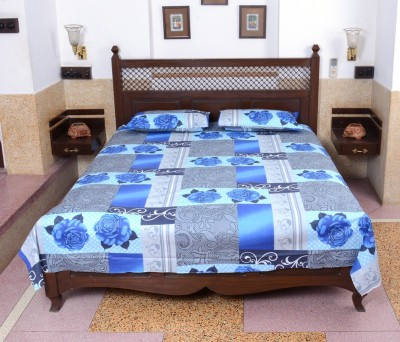 The Home Story Cotton Floral Double Bedsheet