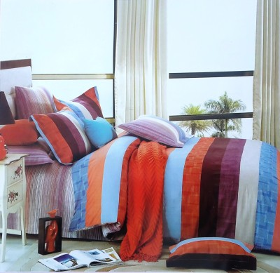 Reliable Cotton Striped Double Bedsheet