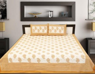Jaipur Print Cotton Floral King sized Double Bedsheet