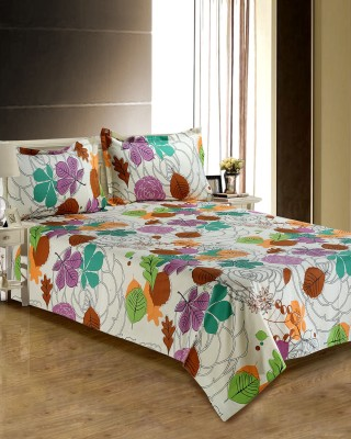 Anubhutee Cotton Floral Queen sized Double Bedsheet