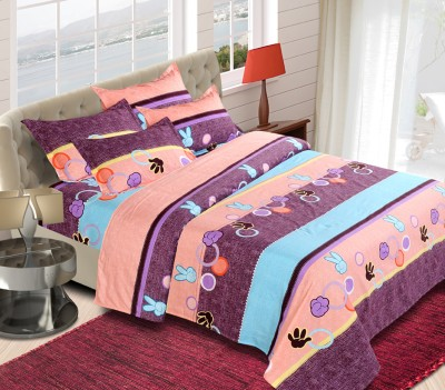 The Chaddar Polycotton Abstract Double Bedsheet
