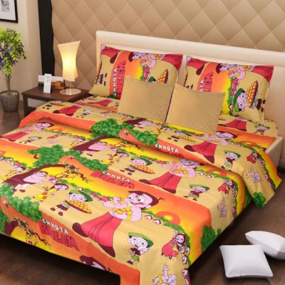 Aazeem Cotton Printed Double Bedsheet