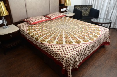 Touch Feel Cotton Printed King sized Double Bedsheet