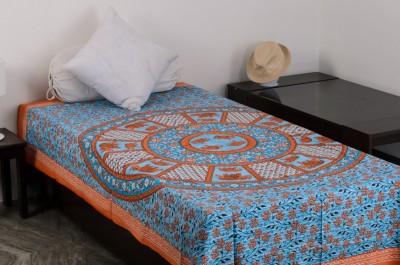 Vivid Rajasthan Cotton Printed Single Bedsheet