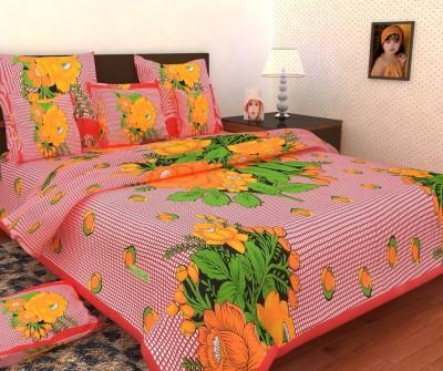 Mashhoorindia Cotton Floral Double Bedsheet