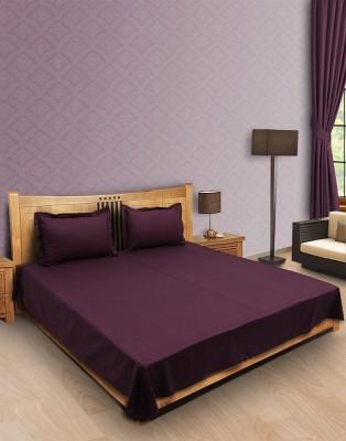 Home Stylerz Satin, Cotton Plain Queen sized Double Bedsheet