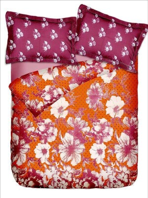 Rose Petal Cotton Floral Double Bedsheet