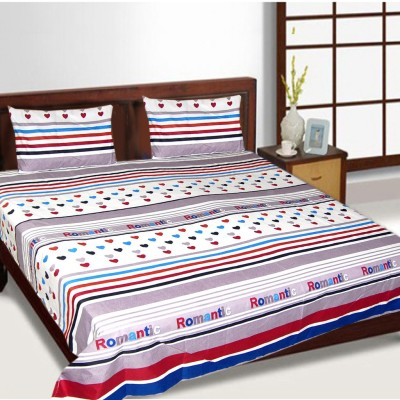 The Fancy Mart Polycotton Printed Double Bedsheet