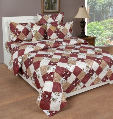 NIRWANA Polycotton Geometric Double Bedsheet