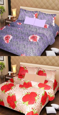 Ss Furnishings Cotton Floral Double Bedsheet