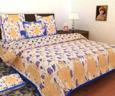 Mashhoorindia Cotton Animal Double Bedsheet
