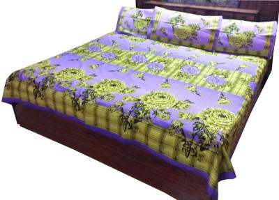 Shreem 2015 Cotton Floral Double Bedsheet