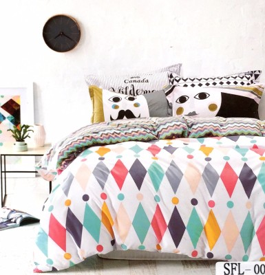 Solitaire Cotton Printed Double Bedsheet