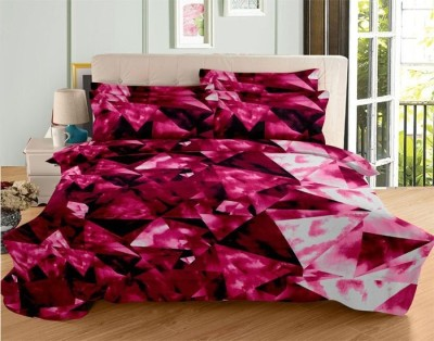 Himalaya International Satin Geometric Double Bedsheet