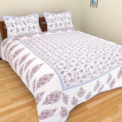 Shra Cotton Floral Double Bedsheet