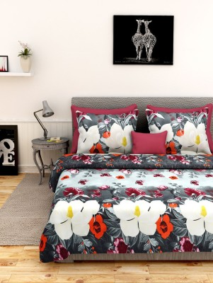 First Row Polycotton 3D Printed Double Bedsheet