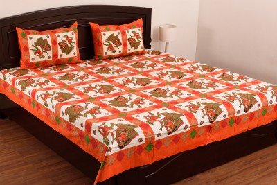 SheetKart Cotton Printed Double Bedsheet