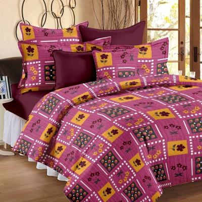Happy Life Cotton Floral Double Bedsheet
