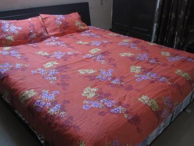 AyushFabrics Polycotton Floral Double Bedsheet