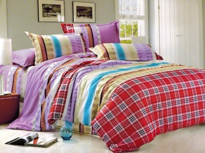 Balaji Creations Polycotton Striped Double Bedsheet