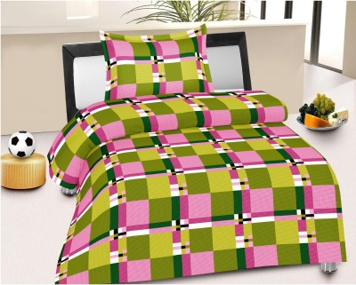 Jiya Decor Cotton Abstract Single Bedsheet