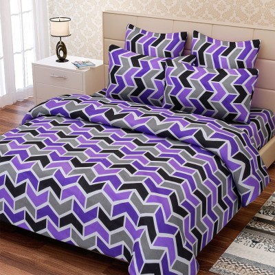 SEJ by Nisha Gupta Cotton Geometric Double Bedsheet
