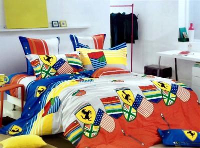 Dream Weaverz Cotton 3D Printed King sized Double Bedsheet