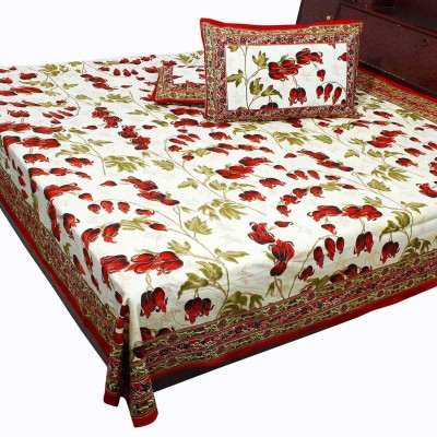 Sharpshoping Cotton Floral Double Bedsheet