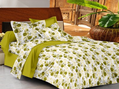 Casa Basics Cotton Floral Queen sized Double Bedsheet