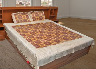 Kimayaa Satin Printed Double Bedsheet
