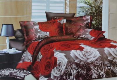 Krishnam Polycotton Floral Double Bedsheet
