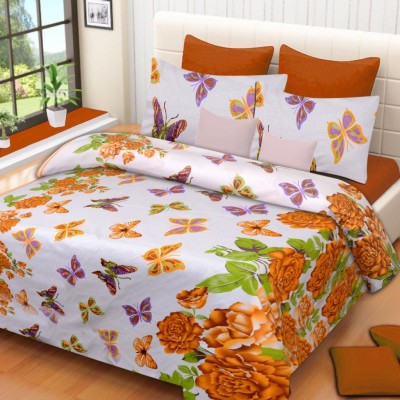 HOME ELITE Cotton Floral Double Bedsheet