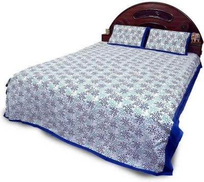 Bagru Crafts Cotton Floral Double Bedsheet