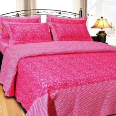 SHOPGRAB Cotton Abstract Double Bedsheet