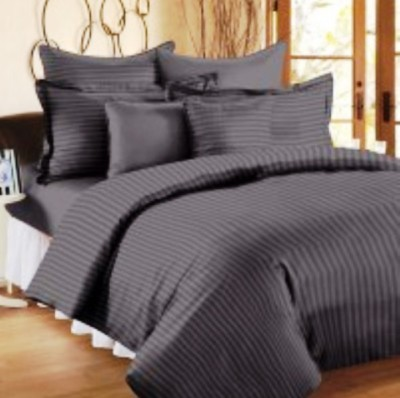 Trance Home Cotton Striped Queen sized Double Bedsheet
