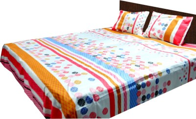 Loomkart Cotton Abstract King sized Double Bedsheet